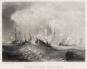 The Prince of Orange Landing at Torbay, engraved by W. Miller published 1859-61 Joseph Mallord William Turner 1775-1851 Transferred from the British Museum 1988 http://www.tate.org.uk/art/work/T06357